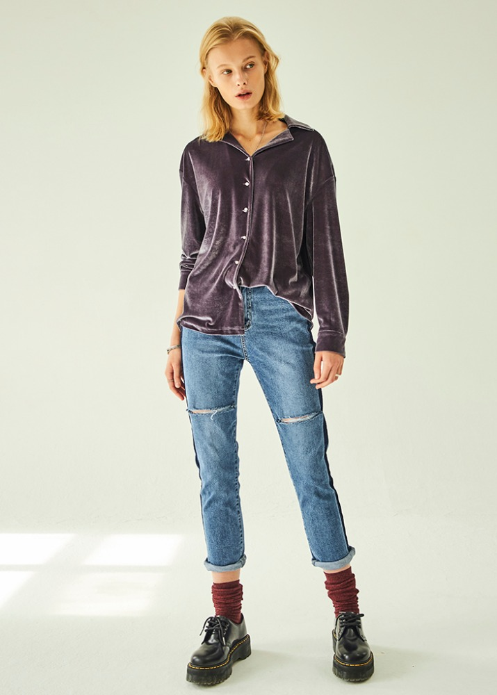 SIDE LINE POINT DEMAGED DENIM
