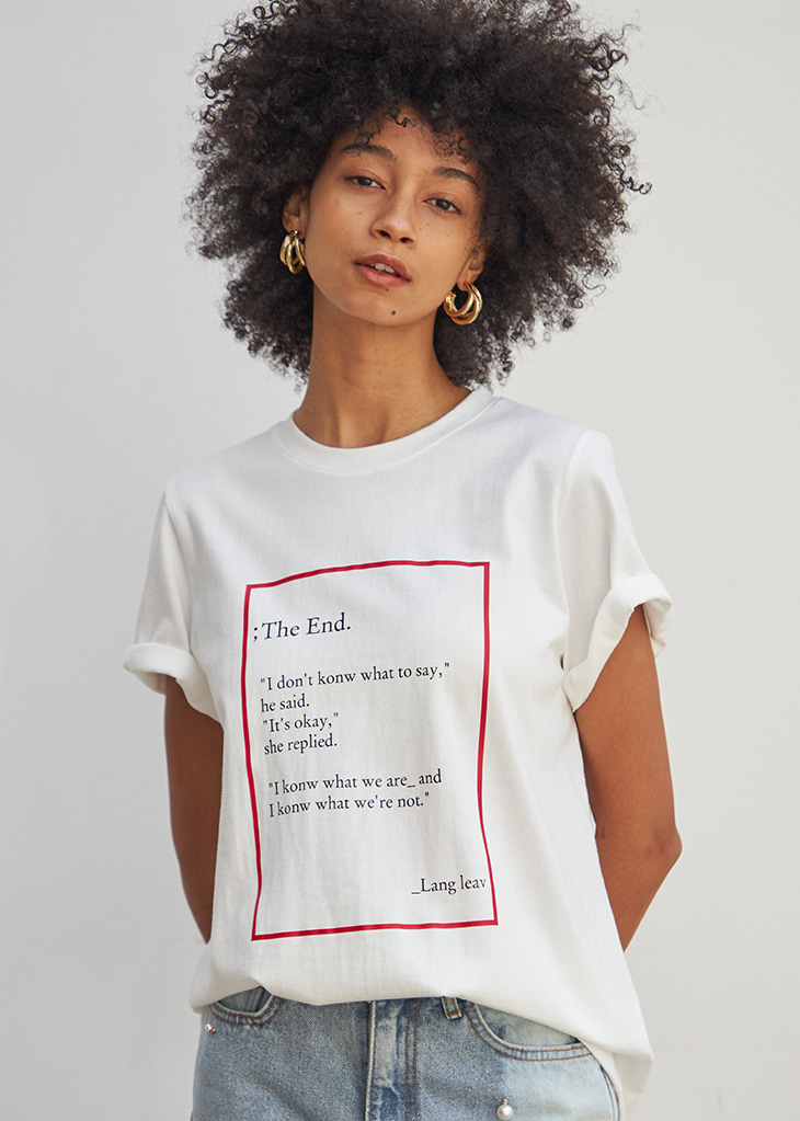 THE END MOOD T-SHIRT_WHITE